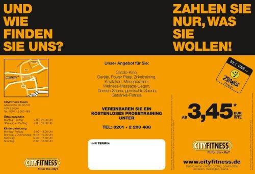 Wochenplan hier - Cityfitness