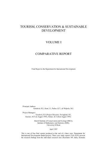 Vol I Comparative Report - Harold Goodwin