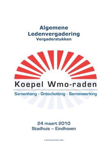 Algemene Ledenvergadering - Koepel Wmo-raden