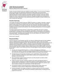 Sudden Arrhythmia Death Syndromes (SADS) Foundation- Office ...