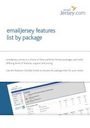 emailjersey features list by package