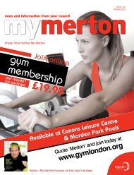 gym membership £19.95 - Merton Council