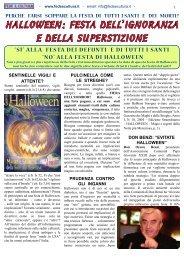 HALLOWEEN: FESTA DELL'IGNORANZA E DELLA ... - Fede e Cultura
