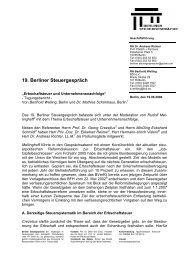 Tagungsbericht 19. Berliner Steuergespräch (PDF-Format)