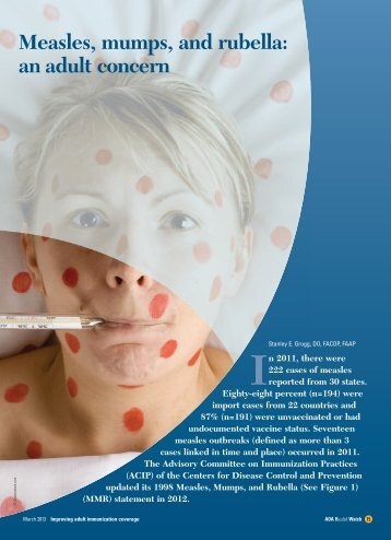 Measles, mumps, and rubella: an adult concern - CECity