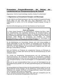 Lerneinheit Bioenergie