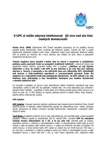 S UPC si může zdarma telefonovat již více než sto tisíc českých ...