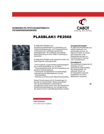PLASBLAK® PE2668 - Cabot Corporation