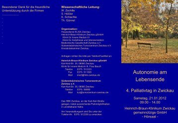 Folie 1 - Medizinischen Gesellschaft Zwickau
