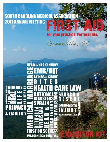 Exhibitor kit - South Carolina Medical Association