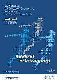 86. Kongress der Deutschen Gesellschaft für Neurologie ... - Congrex