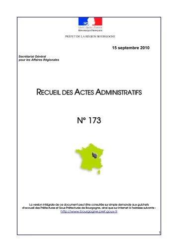 RAA 173 - Préfecture de la Côte-d'Or