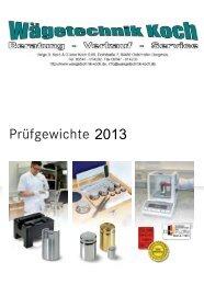 Preisliste für Gewichte zum Download - Helga B. Koch und Günter ...