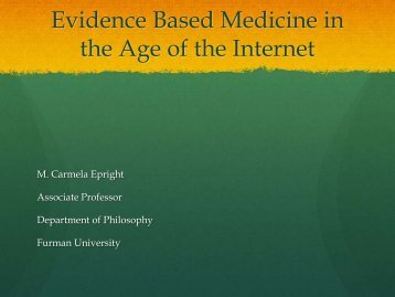 Evidence Based Medicine in the Age of the Internet