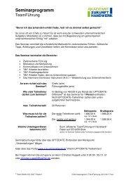 Download PDF zum Seminar - Akademie Zukunft Handwerk