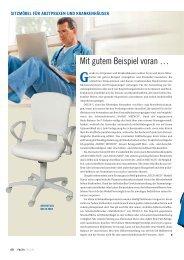 Produktvorstellung: Mit gutem Beispiel voran - FACTS Verlag GmbH