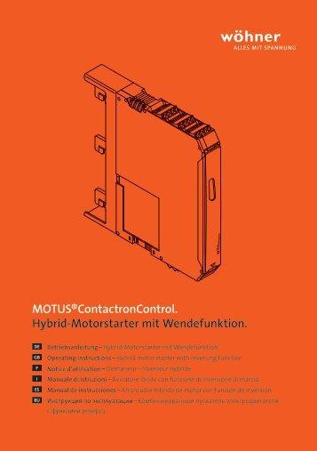 MOTUS®ContactronControl. - elektrokomponenten.ch