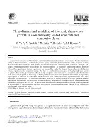 Three-dimensional modeling of intersonic shear-crack growth - Solid ...