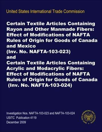 Certain Textile Articles Containing Rayon and Other ... - USITC