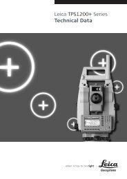 Leica TPS1200+ Series Technical Data - SERTOPO.net