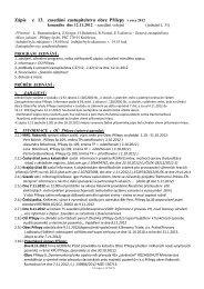 Zápis z 13. zasedání zastupitelstva obce Přílepy v roce 2012