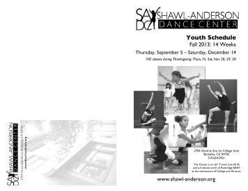 Download Fall 2013 Brochure - Shawl-Anderson Dance Center