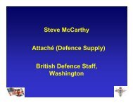 Security of Supply - DCMA