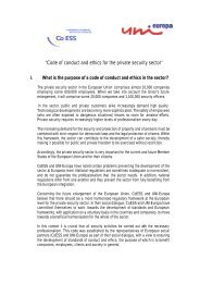 Code of conduct and ethics for the private security sector - CoESS
