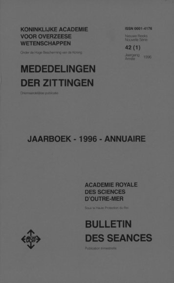 (1996) n°1 - Royal Academy for Overseas Sciences
