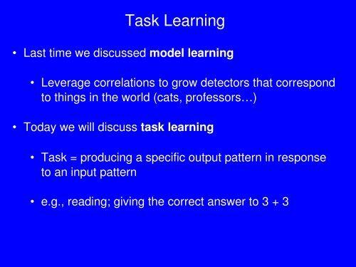 Task Learning