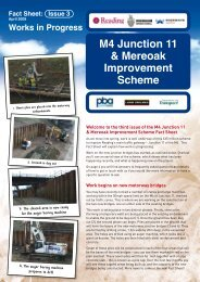 M4 Junction 11 Improvements Fact Sheet