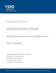 2010 Embedded Hardware Market Intelligence ... - VDC Research
