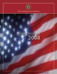 Post Service Officers Guide 2008 - American Legion