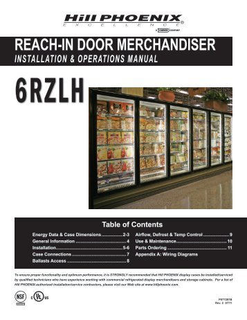 reach-in door merchandiser installation & operations ... - Hillphoenix