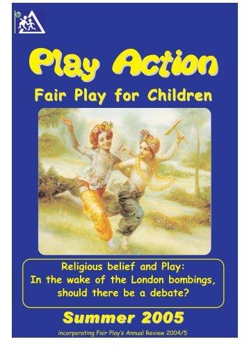 Summer 2005 - Fair Play For Children