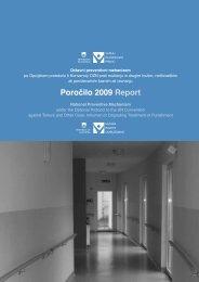 Poročilo Varuha človekovih pravic RS o izvajanju nalog državnega ...