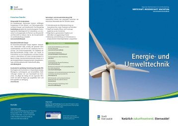 Energie- und Umwelttechnik - Wirtschaft – Stadt Eberswalde