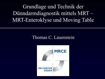 MRT-Enteroklyse und Moving Table
