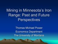 Mining in Minnesota's Iron Range: Past and Future Perspectives