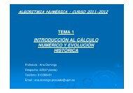 tema 1 introducción al cálculo numérico y evolución histórica - ETSI ...
