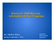 Electronic O&M Manuals Information at Your ... - NC AWWA-WEA