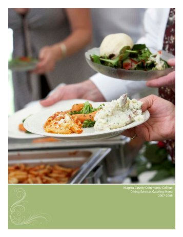 Niagara County Community College Dining Services Catering Menu ...