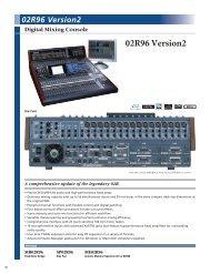 Yamaha 02R96V2 Data Sheet - Full Compass