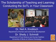 Scholarship of Teaching and Learning: Conducting SoTL in your class