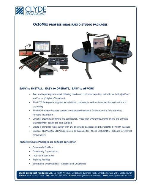 OctoMix PROFESSIONAL RADIO STUDIO     - Clyde Broadcast
