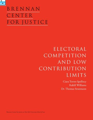 electoral competition and low contribution limits - Follow The Money