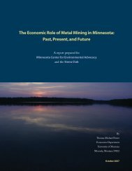 The Economic Role of Metal Mining in Minnesota: Past, Present, and ...