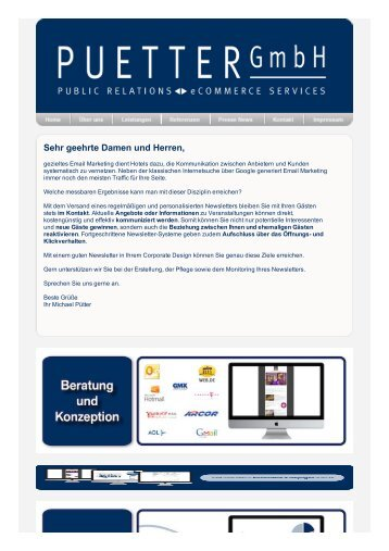 Puetter - newsletter - Puetter GmbH