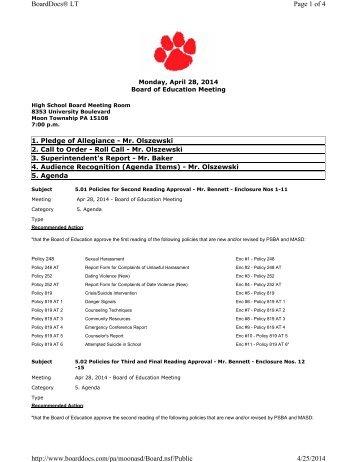 Agenda - April 28 2014