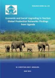 Economic and Social Upgrading in Tourism Global Production Networks - Findings from Uganda - RS 103